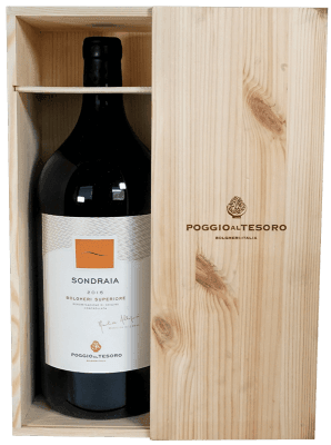 Doppelmagnum Sondraia Bolgheri Superiore in Holzkiste - Poggio al Tesoro