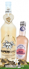 Alpenshot 0,7l + 12 x Fentimans Rose Limonade 0,275l