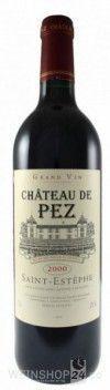 Chateau de Pez Bordeaux - St.Esephe Cru Bougeois