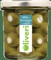 Oliveri Grüne Oliven mit Ziegenkäse gefüllt