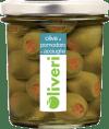 Oliveri Grüne Oliven mit Tomaten und Sardellen gefüllt